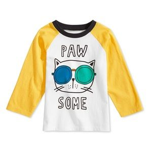 NWT First Impressions Paw Some Cat Shirt Top 12mo